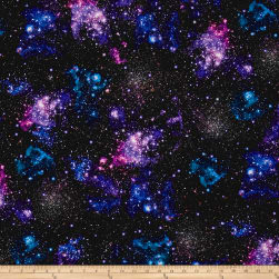 Kaufman Stargazers Digital Stars Nightfall Fabric