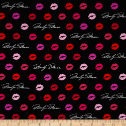 Kaufman Marilyn Monroe Digital Lips Valentine Fabric