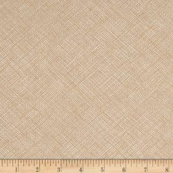 Kaufman Widescreen Cross Hatch Parchment Fabric