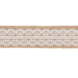 "2 1/4"" Darla Jute Lace Trim Natural"