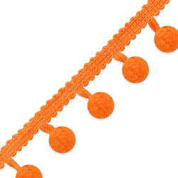 "3/4"" Pom Fringe Trim Orange"