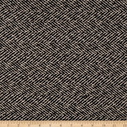 Wool Blend Herringbone Coating Black/White Fabric