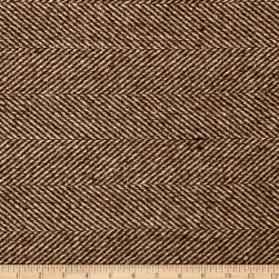 Wool Blend Herringbone Coating Brown/Beige