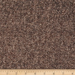 Boucle Wool Blend Coating Brown/Pink Fabric