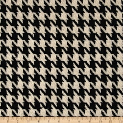Fancy Houndstooth Basketweave Coating Black/White Fabric