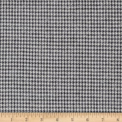 Houndstooth Suiting Grey/White Fabric