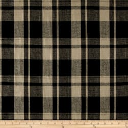 Large Plaid Suiting Camel/Black Fabric