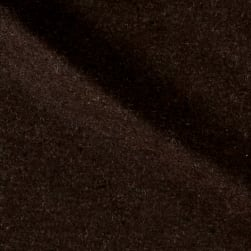 Solid Wool Melton Heather Brown Fabric