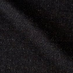 Solid Waffle Plush Wool Blend Coating Charcoal Fabric