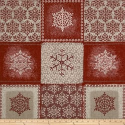 STOF France Frozen Basketweave Rouge Fabric