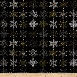 Stof France Flake Noir Fabric