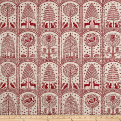 Stof France Creche Rouge Fabric