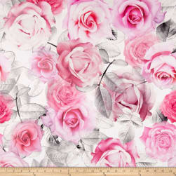 STOF France Rosalba Rose Fabric