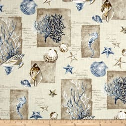 Stof France Shell Bleu Fabric
