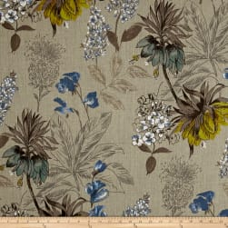 Stof France Fritillaire 100% Linen Bleu Fabric