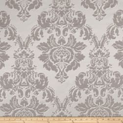 World Wide Damask Jacquard Chandler Silver Fabric