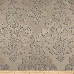 World Wide Damask Jacquard Chandler Champagne Fabric