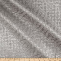 World Wide Baxter Textured Velvet Silver Fabric
