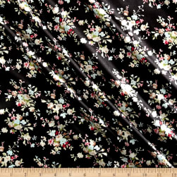 Charmeuse Satin Mini Floral Black/Mint/Ivory