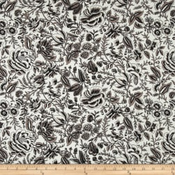 Liverpool Double Knit Majestic Floral Black/Cocoa