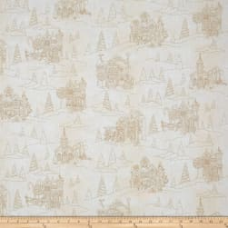 Gingerbread Christmas Toile Cream