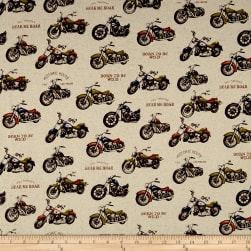 Cosmo Motorcycles Cotton Linen Blend Natural