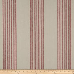Stof Shabby Chic Linen Blend Spreadout Stripe Red