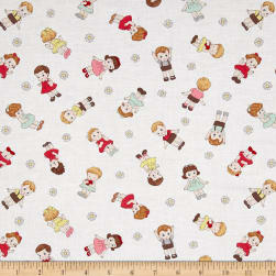 Dreaming Doll Toss Cream Fabric