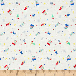 Lecien Minny Muu Good Night Bear White Fabric