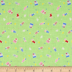 Lecien Minny Muu Good Night Bear Mint Fabric