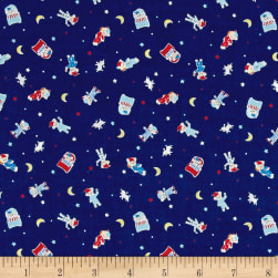 Lecien Minny Muu Good Night Bear Navy Fabric