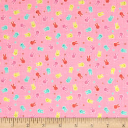 Lecien Minny Muu Bunnies Pink Fabric