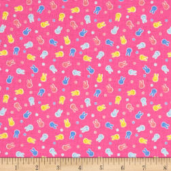Lecien Minny Muu Bunnies Hot Pink Fabric