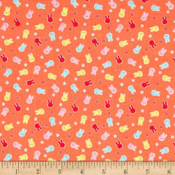 Lecien Minny Muu Bunnies Peach Fabric