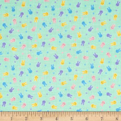 Lecien Minny Muu Bunnies Mint Fabric