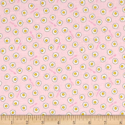 Lecien Minny Muu Fried Eggs Pink Fabric