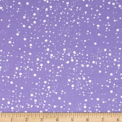 Loralie Designs Calico Cats Galaxy Dot Purple Fabric