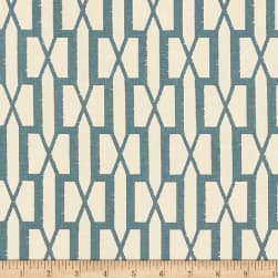 Schumacher Belvedere 100% Linen Peacock Blue Fabric