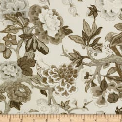 Schumacher Bermuda Blossoms Linen Blend Snow Fabric