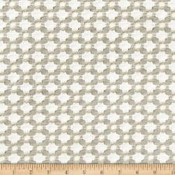 Schumacher Betwixt Jacquard Stone/White Fabric