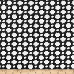 Schumacher Betwixt Jacquard Black/White Fabric