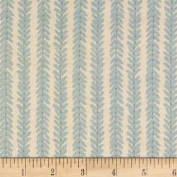 Schumacher Woodperry 100% Linen Aqua Fabric