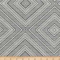 Schumacher Tortola Jacquard Oxford Grey Fabric
