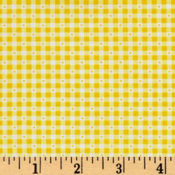 QT Fabrics Sorbet Essentials Gingham Yellow Fabric