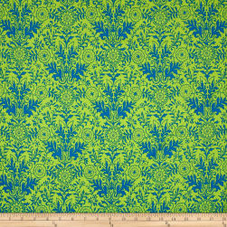 Ink & Arrow Ellery Lyla Damask Green/Royal Fabric