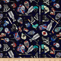 QT Fabrics Face Off Everything Hockey Dark Navy