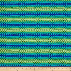 QT Fabrics House On The Hill Scallops Blue/Green