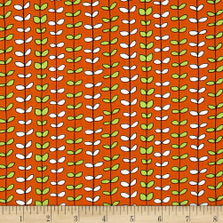 House On The Hill Leaf Stripe Orange