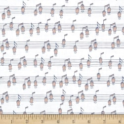 Ink & Arrow Melodie Musical Notes (Horizontal) White