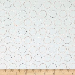 Ink & Arrow Melodie Circle Geometric White Fabric
